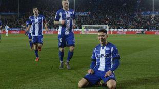 Munir celebra su gol ante el Deportivo