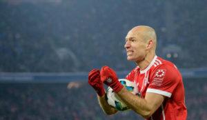 Robben durante un partido contra el Schalke