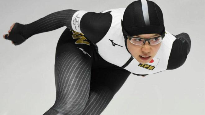 Nao Kodaira durante la competición.