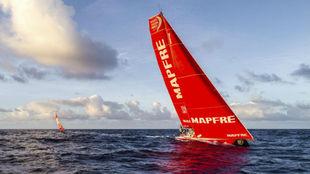 El 'Mapfre', durante la sexta etapa de la Volvo Ocean Race.