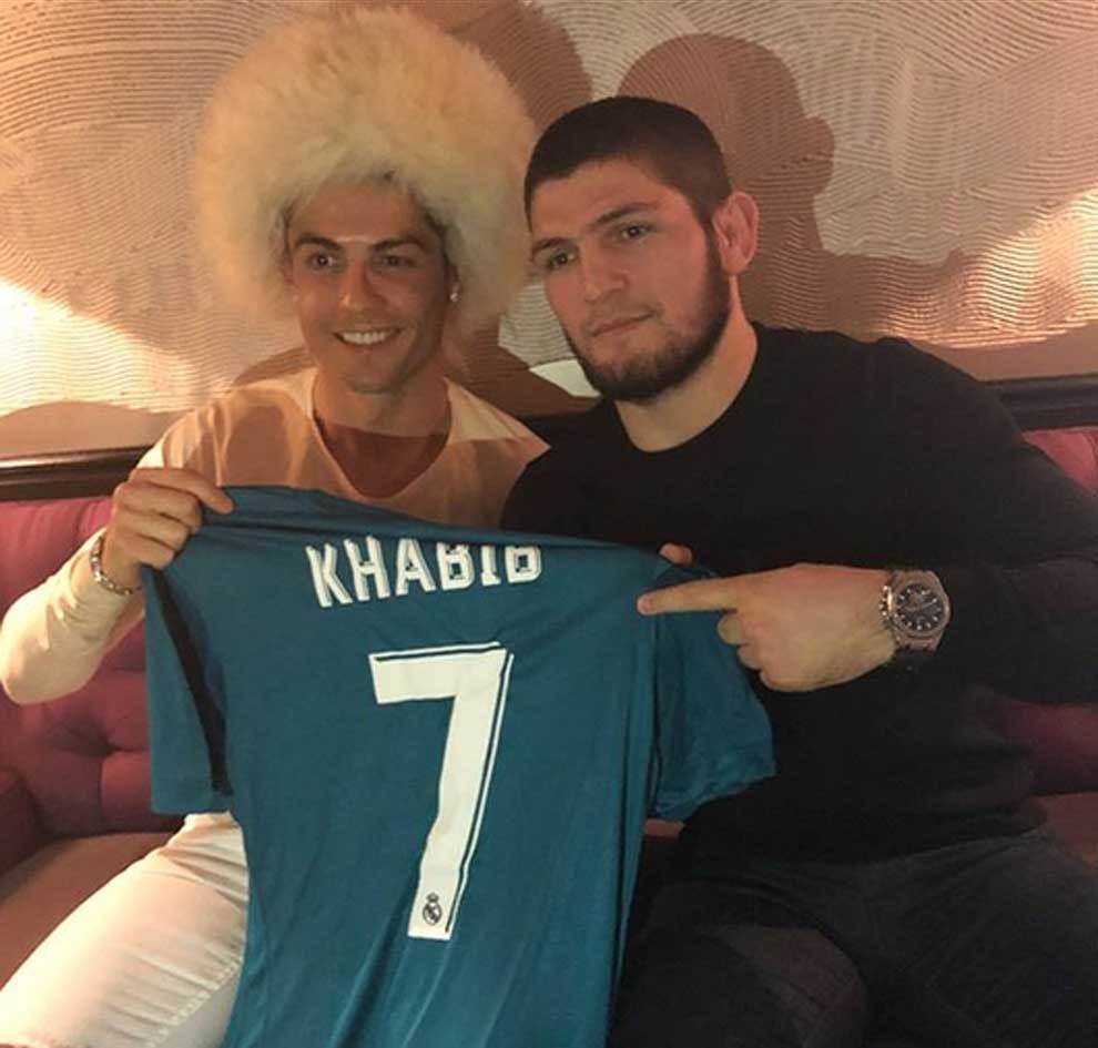 Khabib Nurmagomedov y Cristiano Ronaldo
