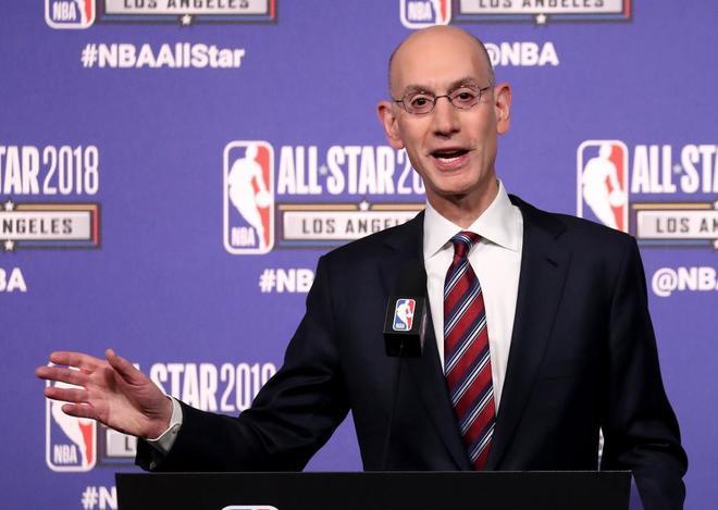 Adam Silver durante la tradicional conferencia de prensa en el All...