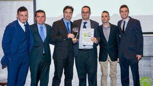 El equipo de Radio Marca Málaga recoge el premio
