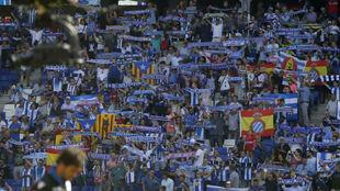 Seguidores del Espanyol durante un encuentro.