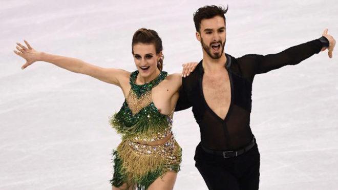 Gabriella Papadakis y Guillaume Cizeron, en el programa corto