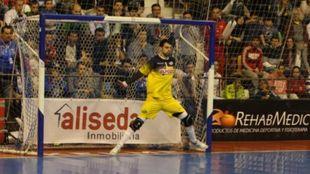 Fede durante un partido con ElPozo Murcia