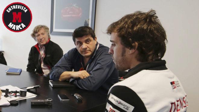 Fernando Alonso, entrevistado por Miguel Sanz.
