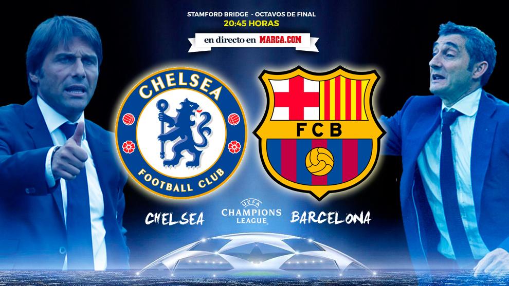 Chelsea vs Barcelona - 20 Febrero 2018 - 20:45 Horas