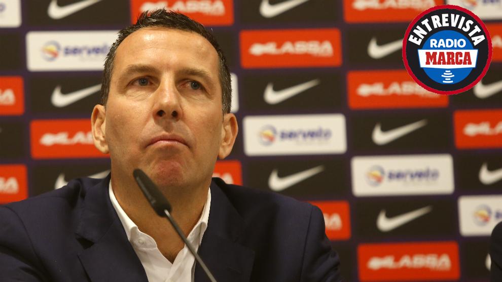 Nacho Rodríguez durante una rueda de prensa