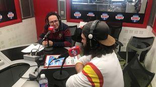 Regino Hernández durante su visita a Radio MARCA