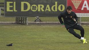 Cristian Álvarez, durante un entrenamiento.
