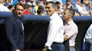 Quico Catalán, López Muñiz y Tito, en el Ciutat de València.