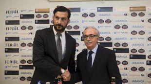 Ricardo, en su presentación como entrenador del Rácing de Ferrol