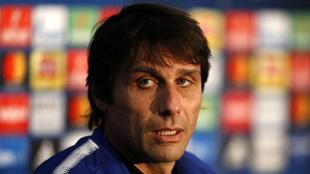 Conte, en la comparecencia de este martes en Stamford Bridge.