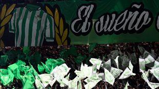 Grada del estadio frente al Madrid