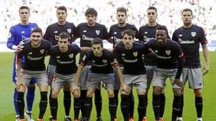 Formación inicial del Athletic en el último partido de Liga contra...