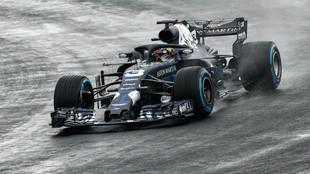 Daniel Ricciardo, con el RB14 en Silverstone.