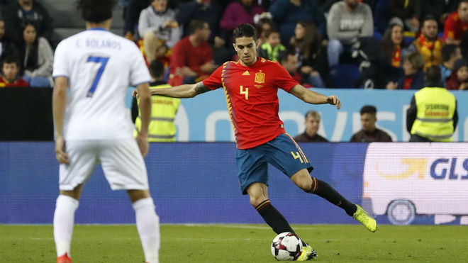 Marc Bartra, en un partido con España.