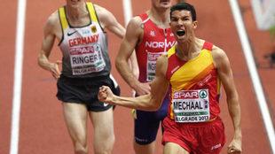 Adel Mechaal, el año pasado en los Europeos de pista cubierta