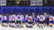 El equipo femenino de hockey de las dos Coreas unificadas en...