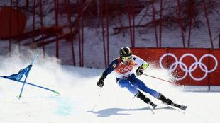 Juan del Campo compitiendo en los Juegos de Pyeongchang