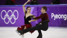 Sara y Kirill durante el programa largo en Pyeongchang