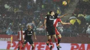 Un momento del Girona-Athletic en Montilivi.