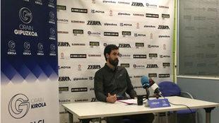 Zubiría, en la rueda de prensa en la que ha anunciado su retirada
