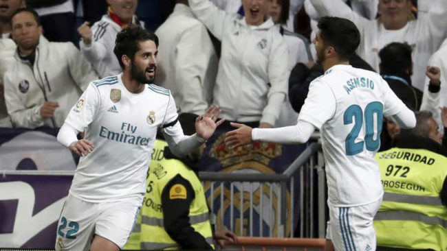 Isco and Asensio start in Ronaldo and Bale's absence