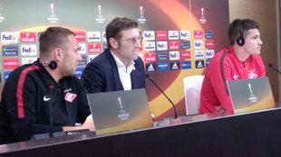 Rueda de prensa del Spartak de Moscú