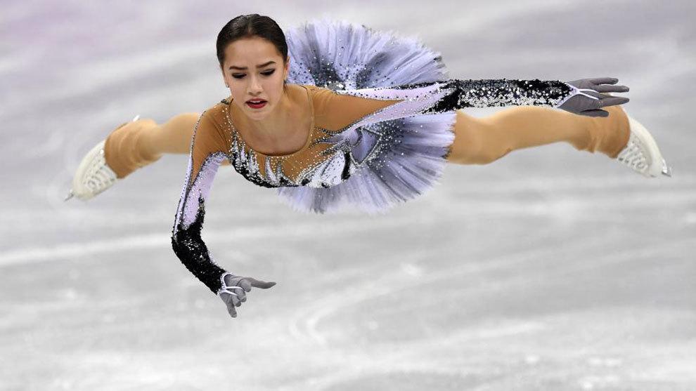 Alina Zagitova, en el programa corto de Pyeongchang