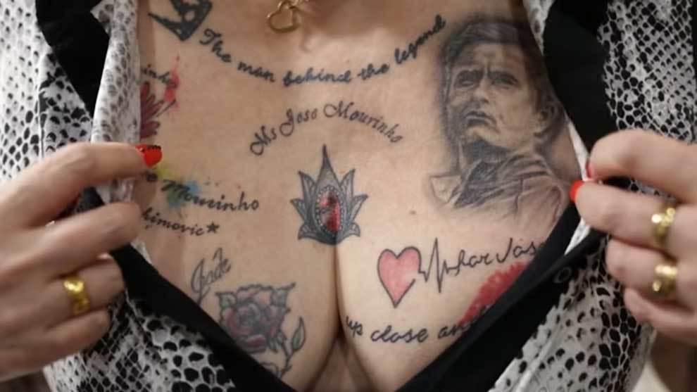 Vivien Bodycote se ha tatuado 35 veces a Mourinho en su cuerpo
