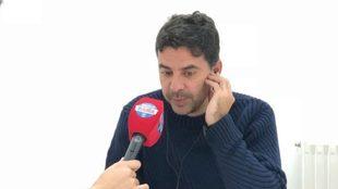 Míchel durante una entrevista con Radio MARCA