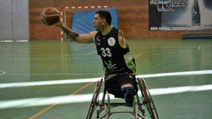Gustavo Villafañe, durante un partido del Mideba Extremadura.