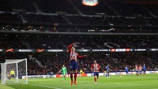 Gameiro celebra su gol ante el Copenhague.