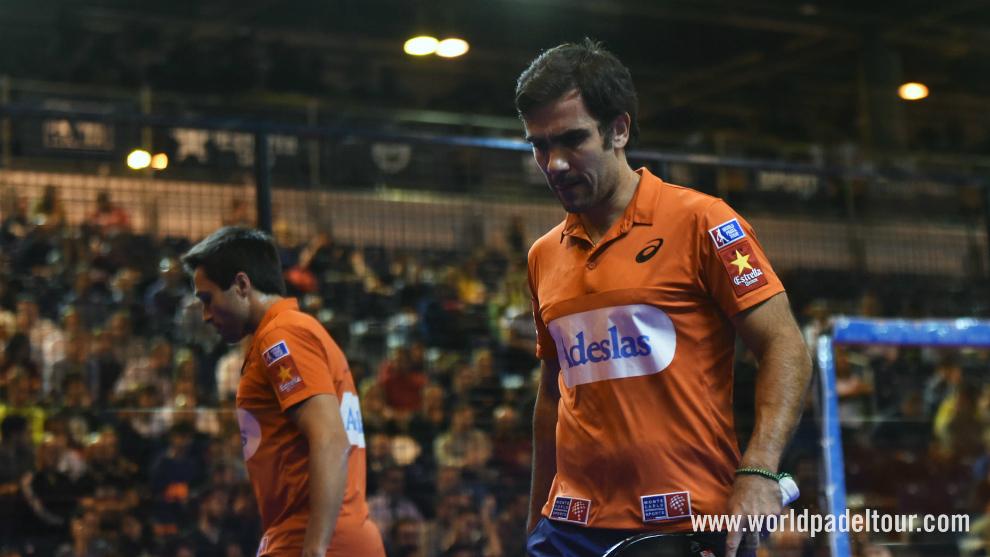 Fernando Belasteguin y Pablo Lima, durante el pasado Master final del...