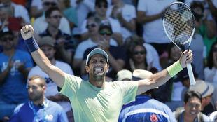 Fernando Verdasco, durante el Open de Australia.