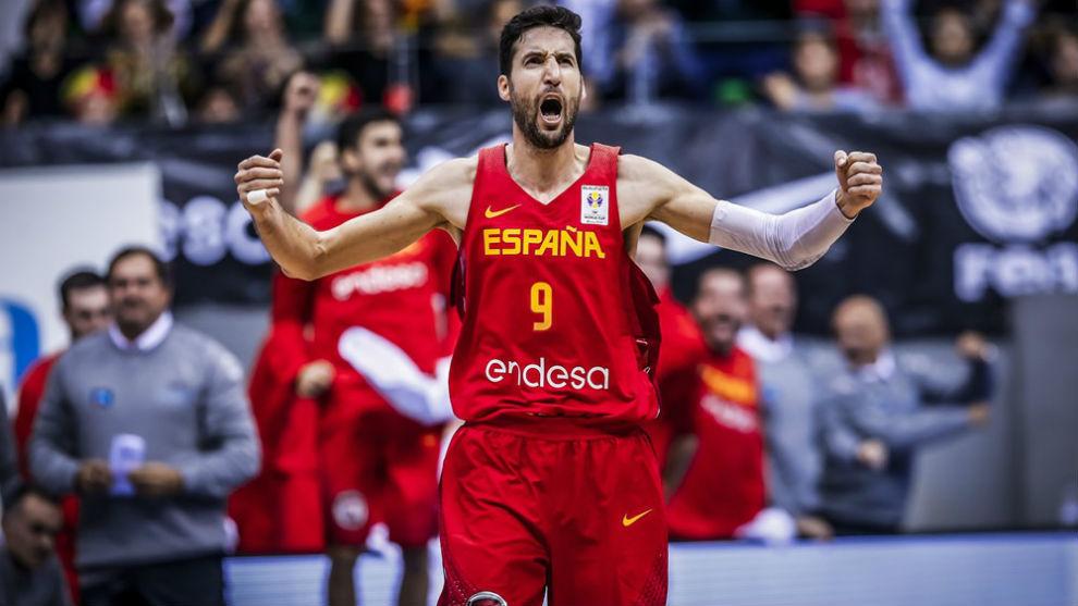 Sergi VIdal durante un partido de las 'Ventanas' FIBA