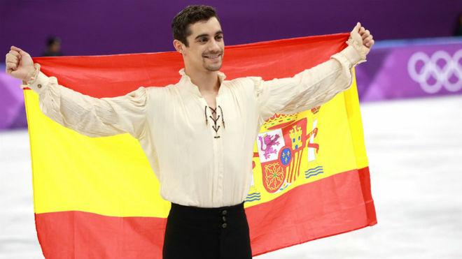 Javier Fernández, tras el programa largo en los Juegos.