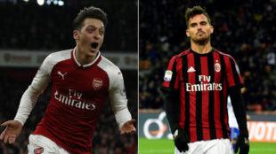 Özil y Suso, dos de las estrellas del Milan-Arsenal