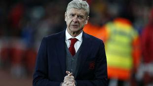 Wenger, en un reciente partido del Arsenal.