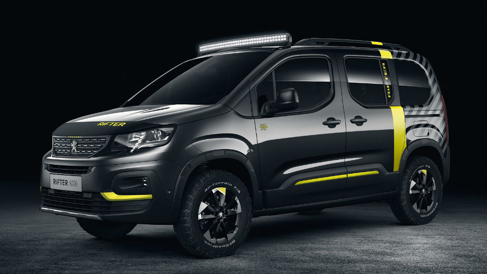 peugeot rifter 4x4 concept para viajar con la casa a cuestas. Black Bedroom Furniture Sets. Home Design Ideas