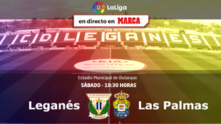 Leganés vs Las Palmas - Sábado 24 a las 18:30 horas