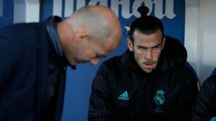 Zidane y Bale durante el último encuentro ante el CD Leganés