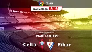 Celta vs Eibar - Sábado 24 a las 13:00