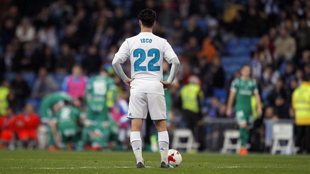 Isco, en un partido en el Bernabéu