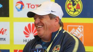 Herrera, en conferencia de prensa.
