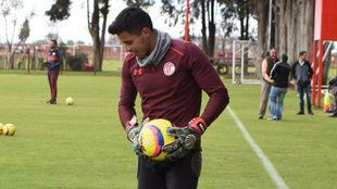 Talavera, en entrenamiento.