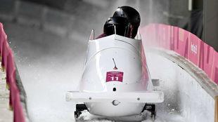 Sergeeva, en la competición de bobsleigh.