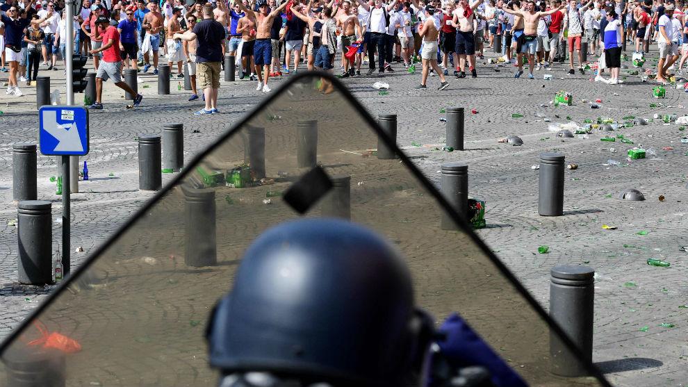 Incidentes en Marsella durante la pasada Eurocopa entre ultras rusos y...